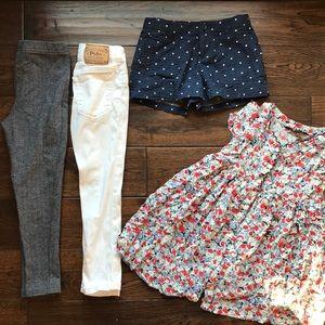 Ralph Lauren sz 4-5 bundle dress, pants, shorts